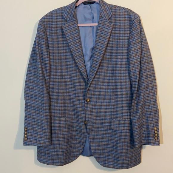 Brooks Brothers Linen Silk Fitzgerald Blazer 44R